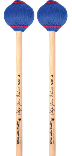 Nr.4 is the standard mallet for general performance that covers all registers of the instrument and produces strong, clear and powerful sound.